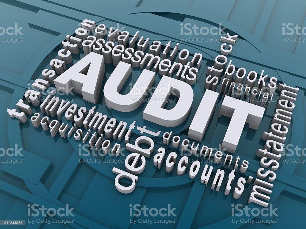 audit word cloud stock photo