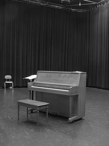 Audition Room black and white stock photo