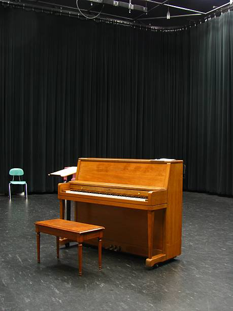 Audition room stock photo