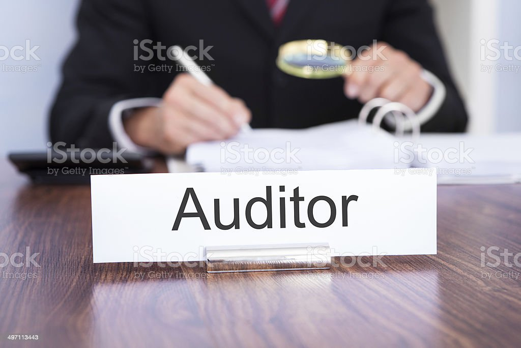 Auditor Looking At Document royalty-free stock photo