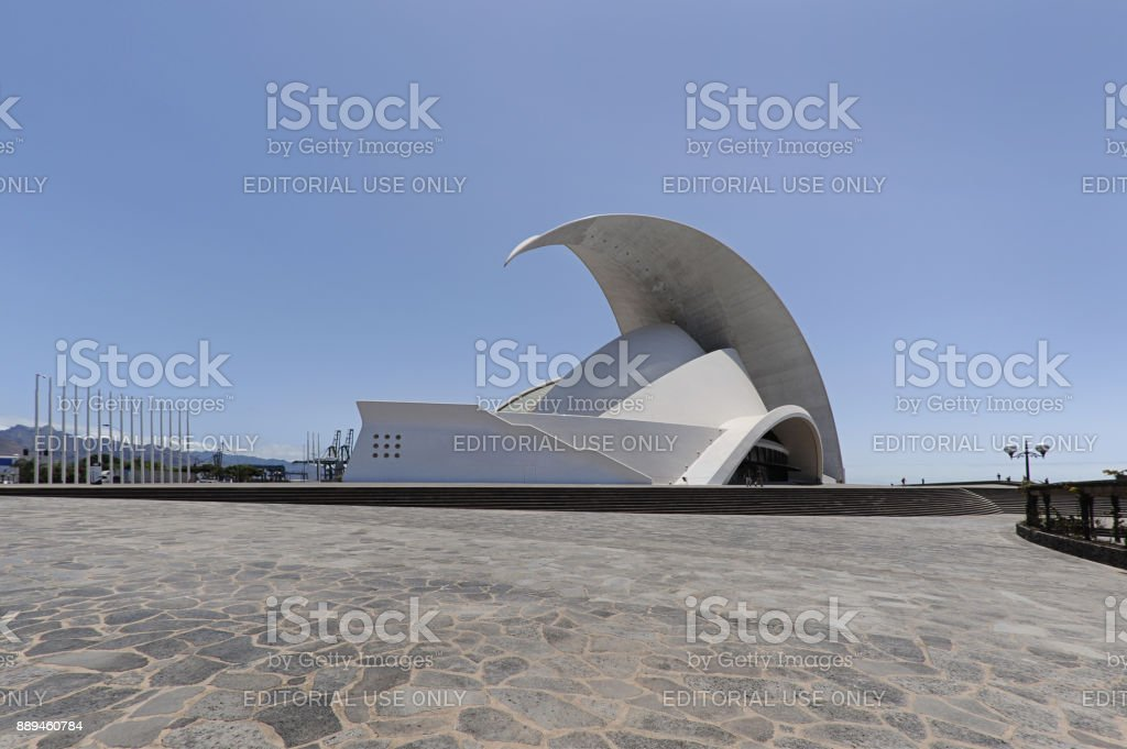 Auditorio de Tenerife Adan Martin, Santa Cruz de Tenerife, Islas Canarias, España - foto de stock