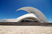 Tenerife, Spain - May 31, 2015: Auditorio de Tenerife - futuristic and inspired in organic shapes, building designed by Santiago Calatrava Valls on May 31, 2015 in Santa Cruz de Tenerife, Canary Islands, Spain