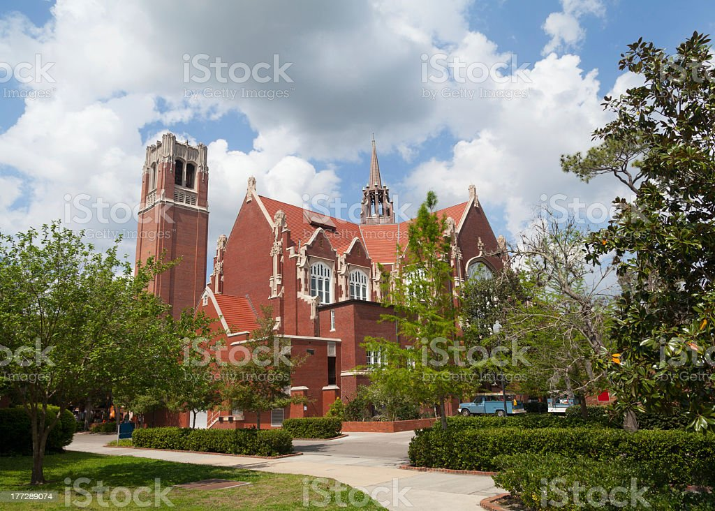 Auditorium and Century Tower at the University of Florida stock photo