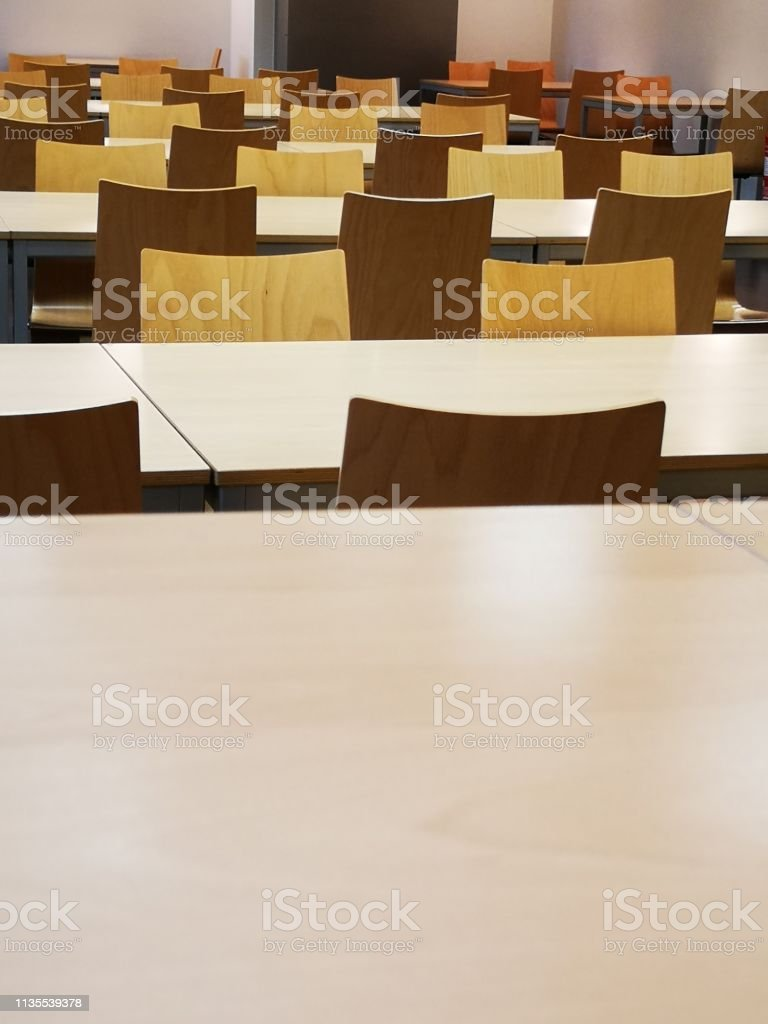 auditorium, cafeteria, tables and chairs, classroom
