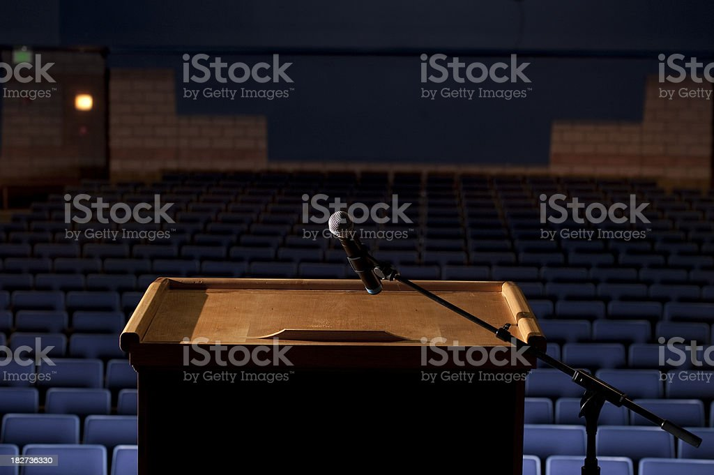 Auditorium from behind the Podium royalty-free stock photo