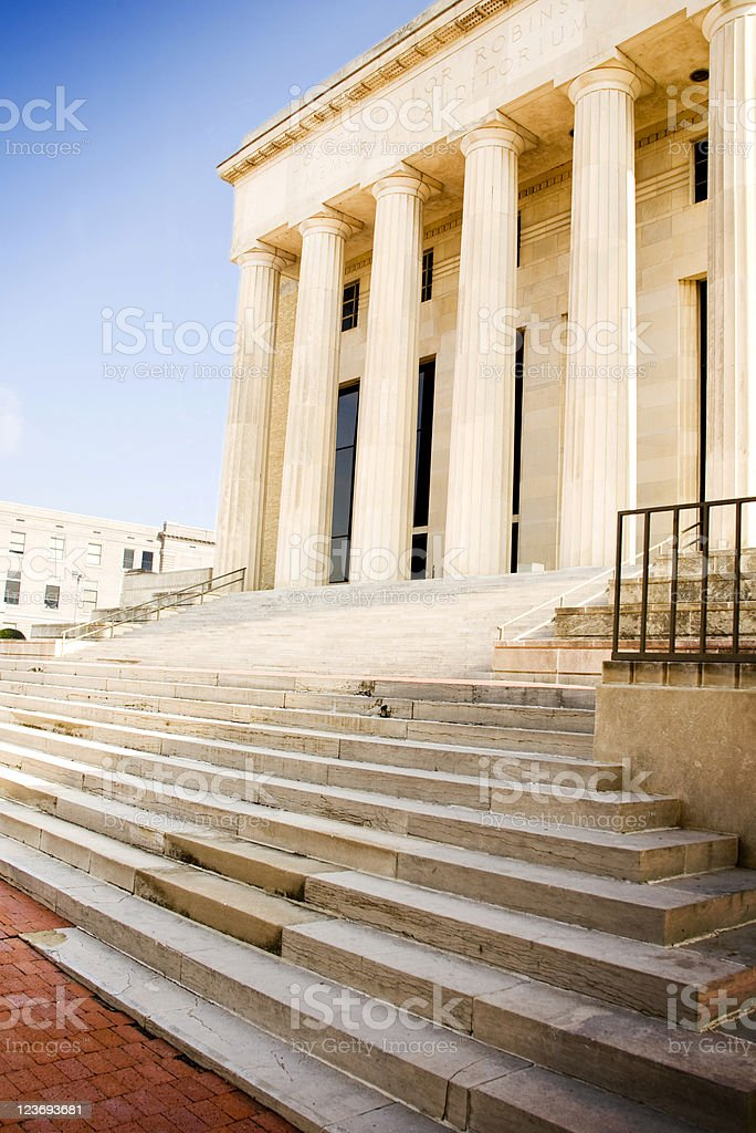 Auditorium, mansion or courthouse exterior stock photo