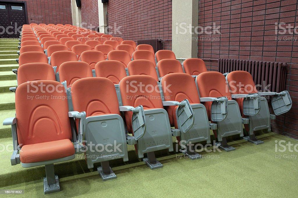 Red color auditorium seats