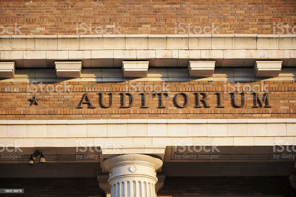 Auditorium sign royalty-free stock photo