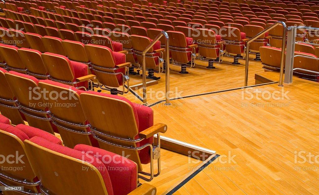Auditorium steps royalty-free stock photo