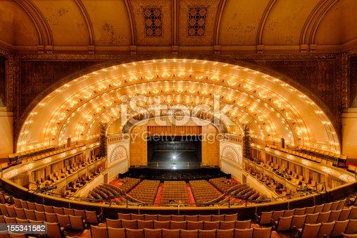Empty Auditorium Theater of Roosevelt University in Chicago, Illinois
