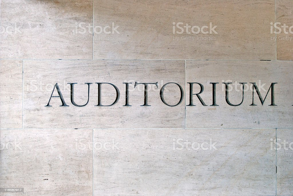 Auditorium Written on the Wall royalty-free stock photo