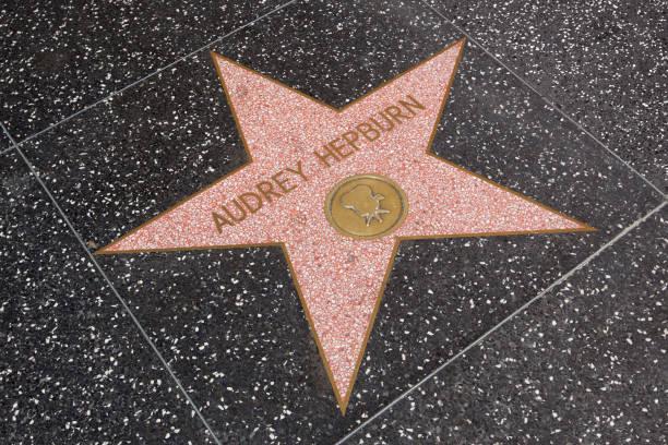 Audrey Hepburn, Walk of Fame stok fotoğrafı