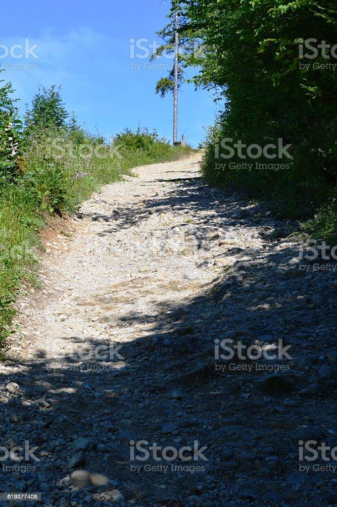 Aufstieg auf den Berg stock photo