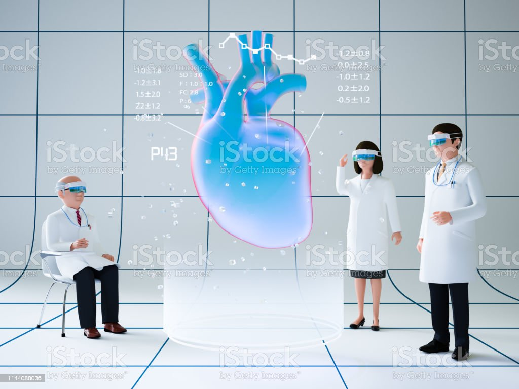 Augmented Reality and Medical stock photo