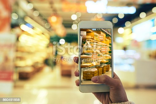 istock Augmented Reality App in Use 860491858