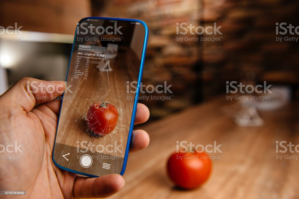 Augmented reality application using artificial intelligence for recognizing food – zdjęcie