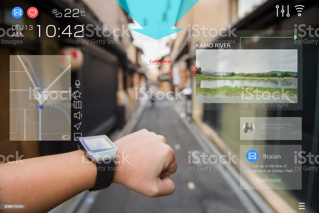 Augmented reality daily life in kyoto – Foto