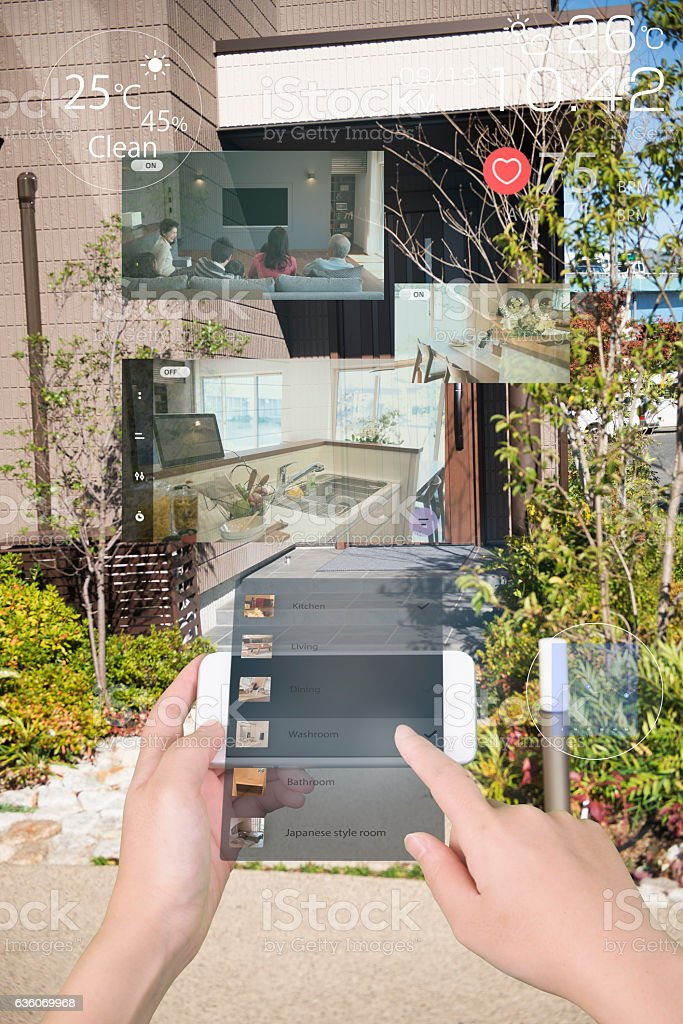 Augmented reality daily life 스톡 사진