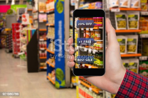 890476604 istock photo Augmented reality in marketing. 921980786
