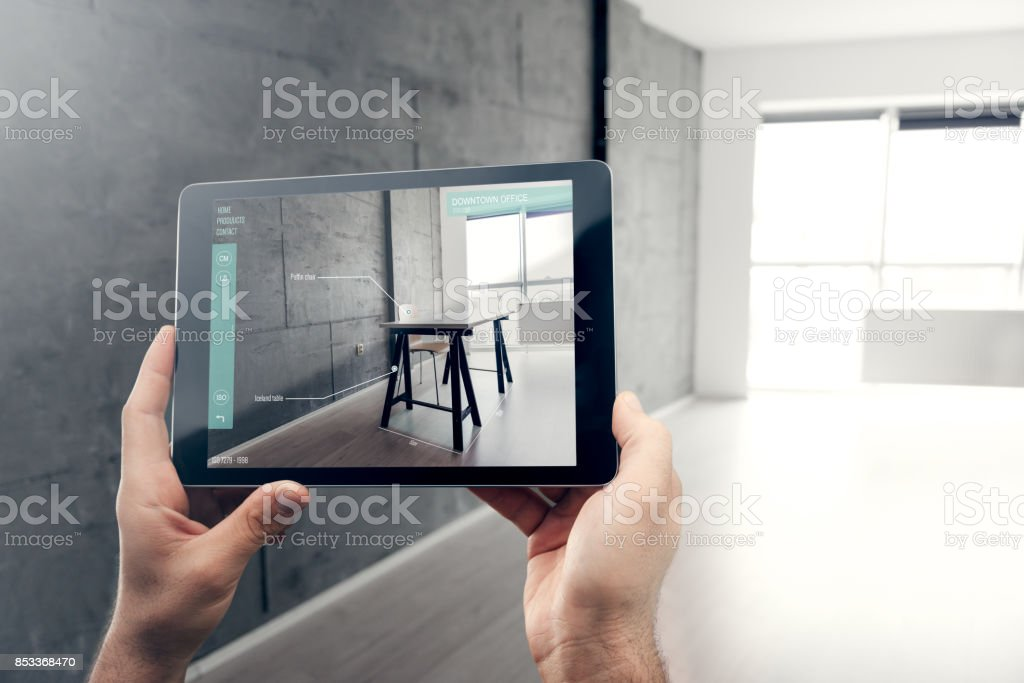 Augmented reality stock photo