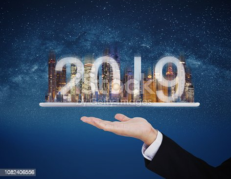 1082409706 istock photo 2019 augmented reality technology, new technology and new trend business investment concept 1082406556