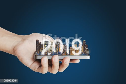 1082409706 istock photo 2019 augmented reality technology, new technology and new trend business investment concept 1089923594