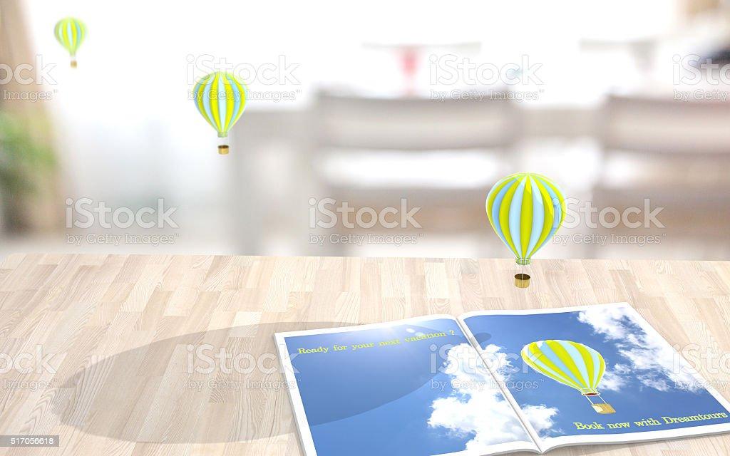 Augmented reality vacation stock photo