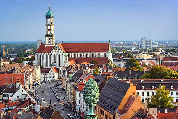 augsburg, deutschland - regierungsbezirk schwaben stock-fotos und bilder