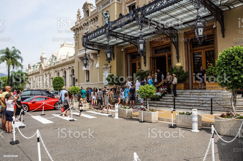 MONTE CARLO - August 15 2017: The Casino of Monte Carlo January 31, 2009 in Monte Carlo. It hosts the annual European Poker Tour stock photo