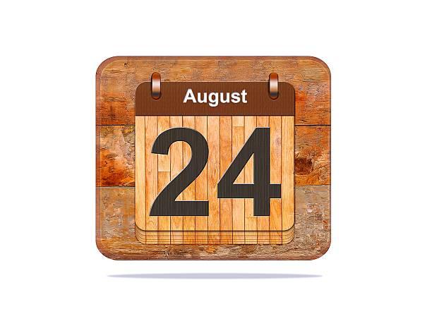 le 24 août. - nombre 24 photos et images de collection