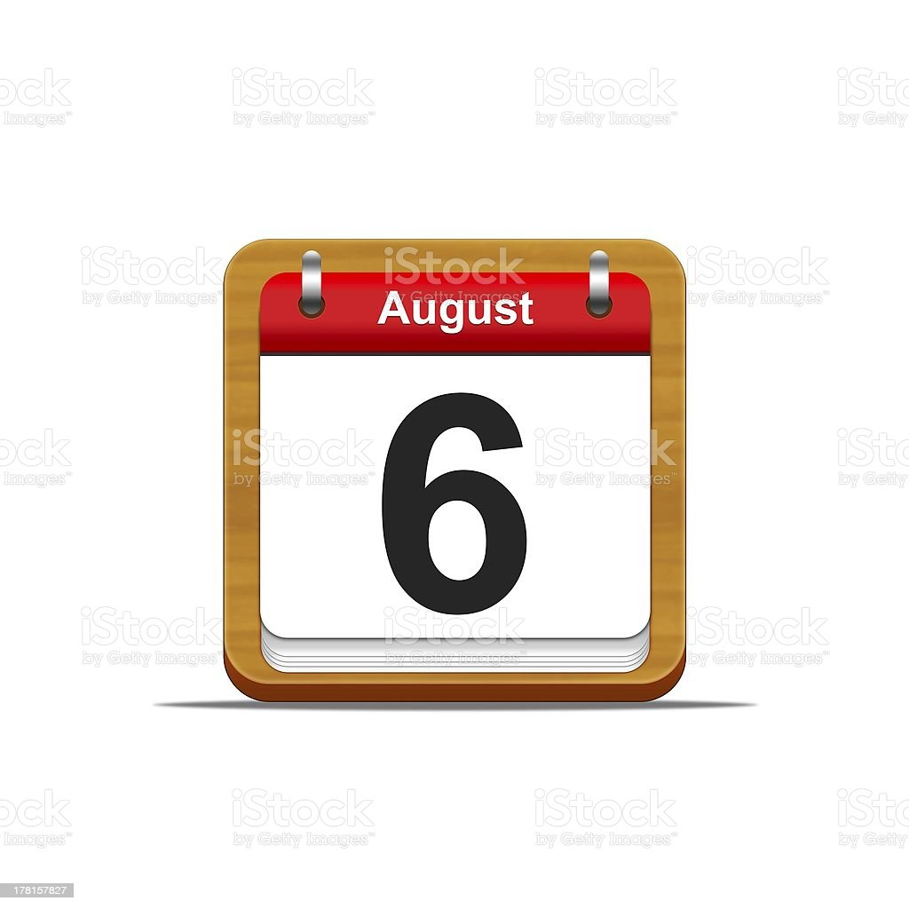 August 6. royalty-free stock photo