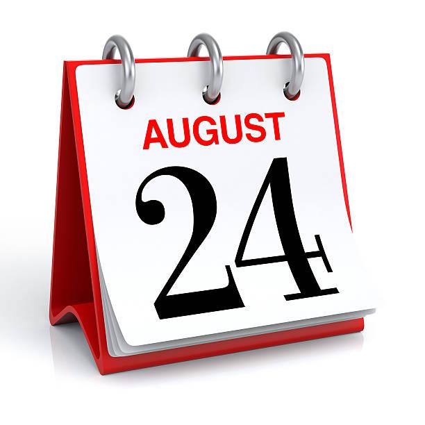 du calendrier août - nombre 24 photos et images de collection
