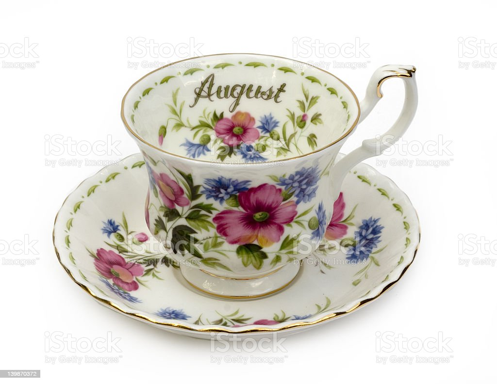 August Cup and Saucer royalty-free stock photo