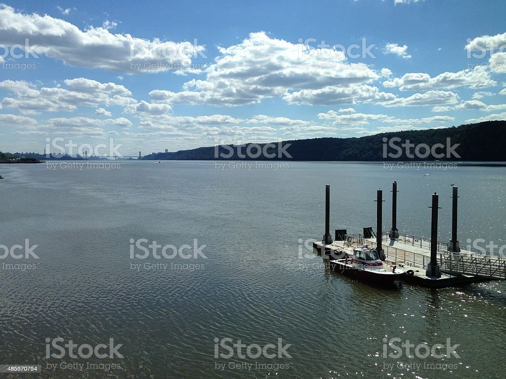 august in new york stock photo