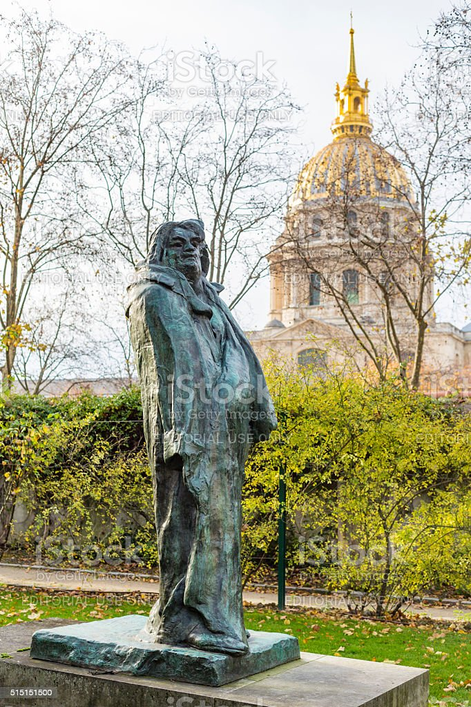 August Rodin's Famous Sculpture of Balzac stock photo