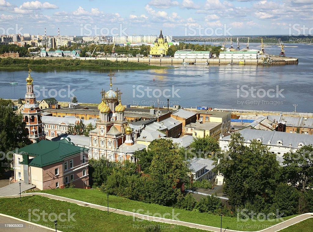 August summer view of scenic Nizhny Novgorod stock photo