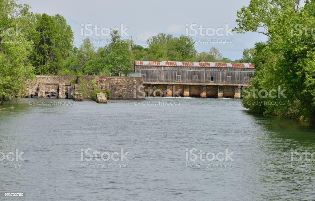 Augusta canal at Augusta in Georgia stock photo