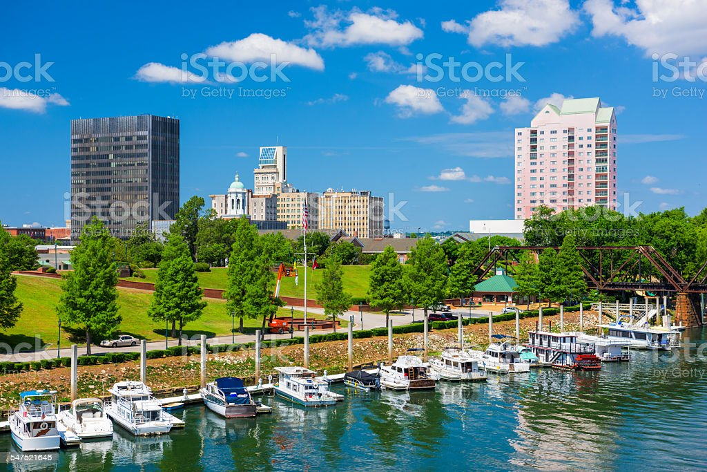 Augusta, Georgia Downtown stock photo