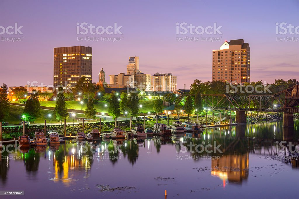 Augusta, Georgia Skyline stock photo