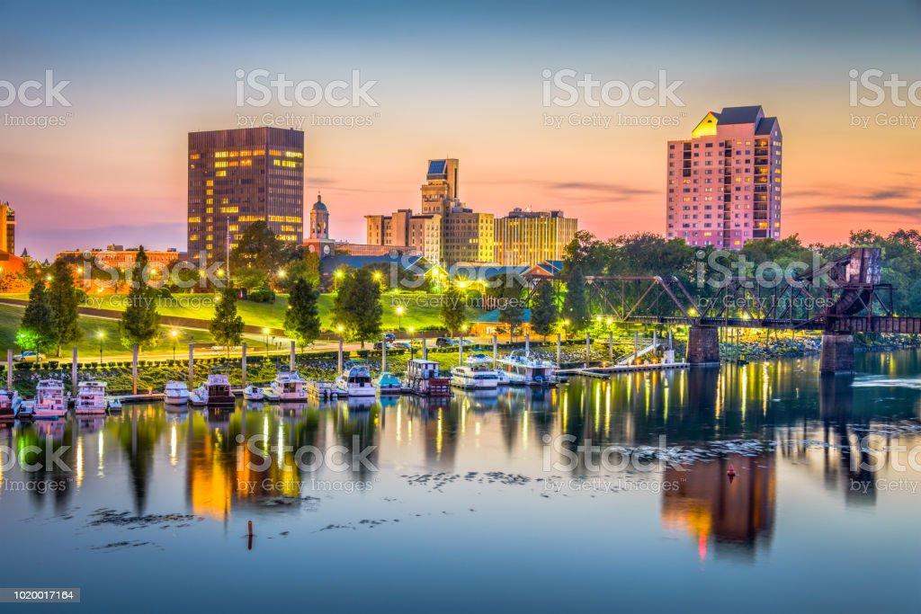 Augusta, Georgia, USA skyline stock photo
