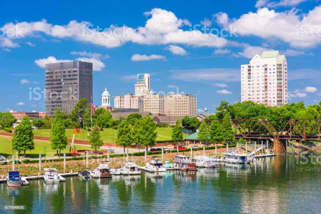Augusta, Georgia, USA Skyline stock photo