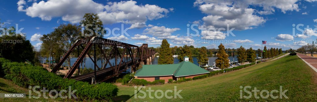 Augusta, Georgia Waterfront (panoramic) stock photo