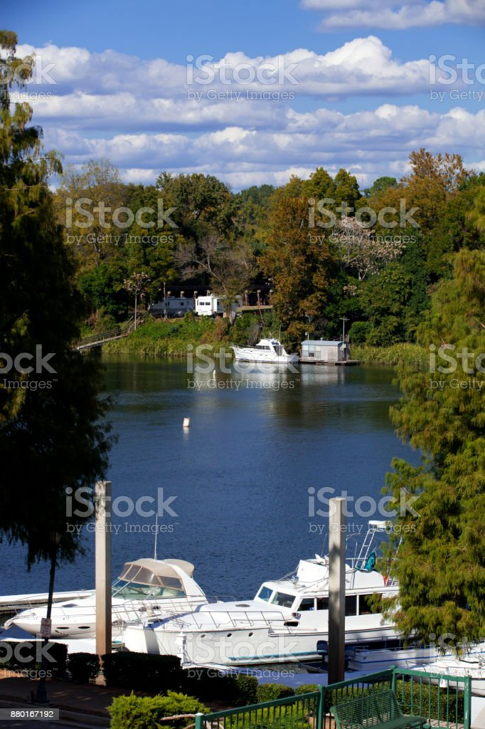 Augusta, Georgia Waterfront stock photo