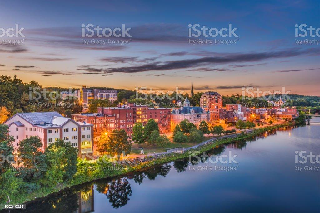 Augusta, Maine, USA Skyline stock photo