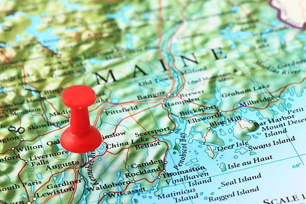 Karte Augusta, Maine, USA – Foto