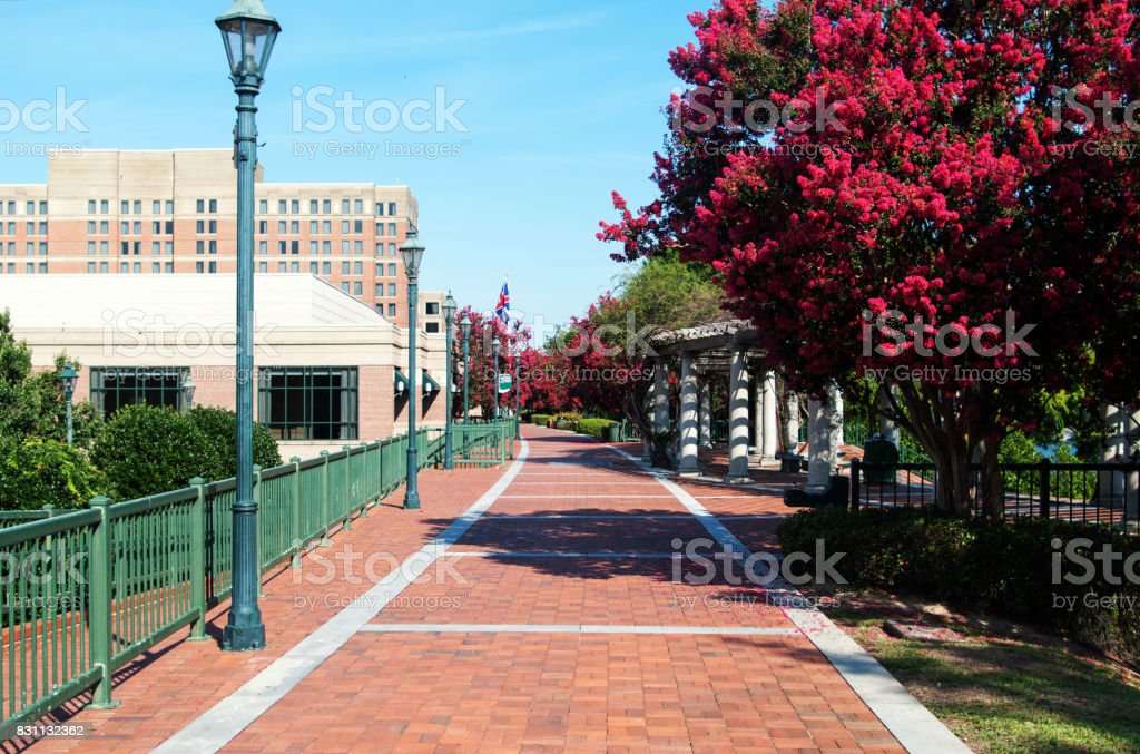Augusta Riverwalk stock photo
