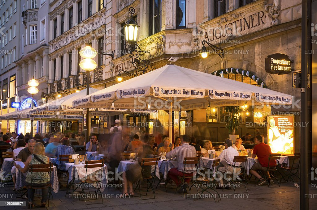 Augustiner Beer Hall along Neuhauser Straße in Munich, Germany royalty-free stock photo