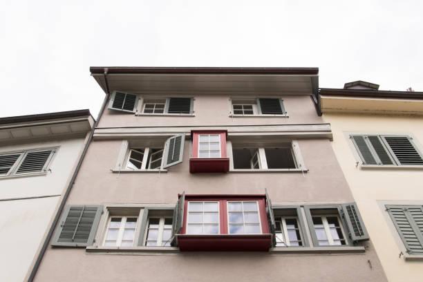 augustiner gasse in zürich - zurigo foto e immagini stock