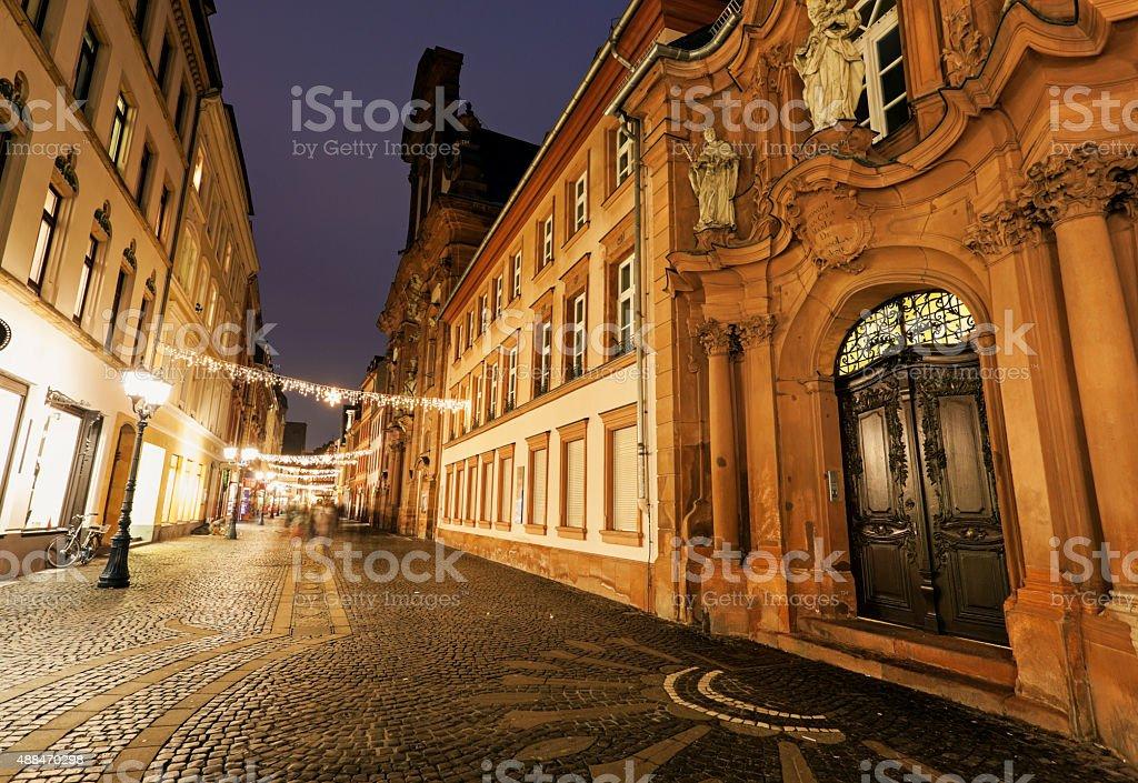 Augustinerkirche in Mainz stock photo