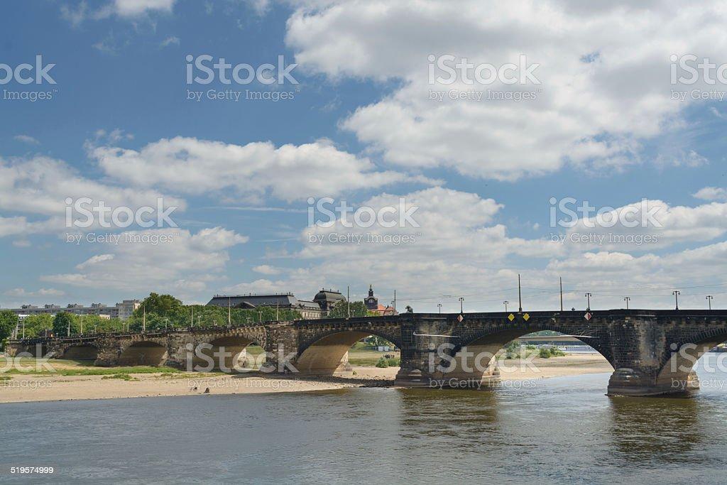 Augustus ponte sobre Elba - foto de acervo